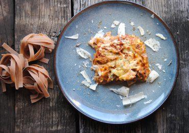 Lasagna iz pirinih širokih rezancev